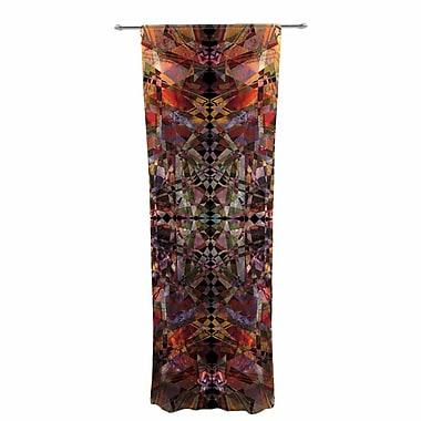 Pia Schneider Mosaic - I Vector Decorative Abstract Sheer Rod Pocket Curtain Panels (Set of 2)