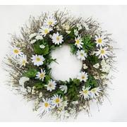 August Grove 22'' Daisy Wreath