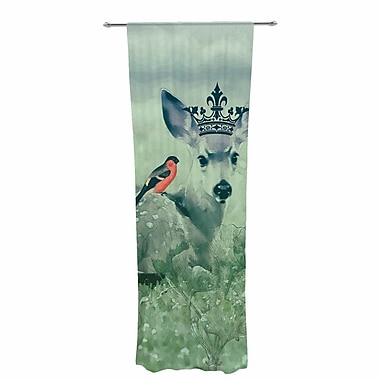 Suzanne Carter the Night Meadow Decorative Graphic Print Sheer Rod Pocket Curtain Panels (Set of 2)