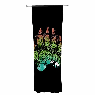 BarmalisiRTB Panda Track Digital Decorative Graphic Print Sheer Rod Pocket Curtain Panels (Set of 2)