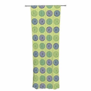Afe Images Spheres Illustration Decorative Geometric Sheer Rod Pocket Curtain Panels (Set of 2)