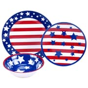 The Holiday Aisle Stars and Stripes 12 Piece Dinnerware Set