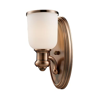 Alcott Hill Boornazian 1-Light Wall Sconce; Antique Copper