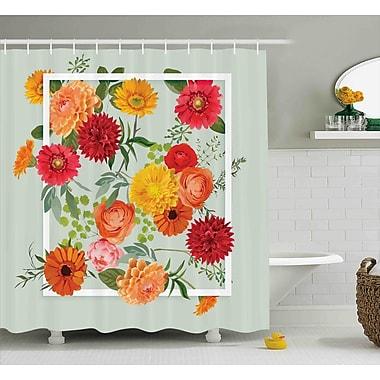 August Grove Burkitt Elegance Floral Flower Leaf Shower Curtain; 69'' W x 84'' L