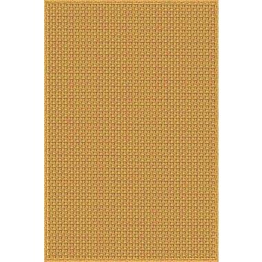 August Grove Camella Hand Woven Brown Indoor/Outdoor Area Rug; 4' x 6'