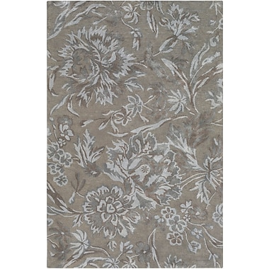August Grove Caramont Hand-Tufted Medium Gray/Light Gray Area Rug; 5' x 7'6''