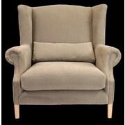 August Grove Castella Wingback Chair; Beige