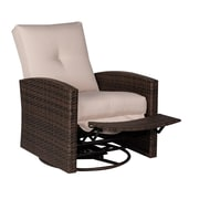 Outsunny Deluxe Reclining Swivel Chair w/ Cushion
