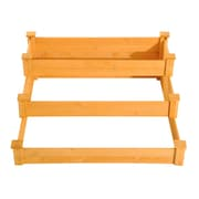 Outsunny 3 Tier 4 ft x 4 ft Wood Raised Garden