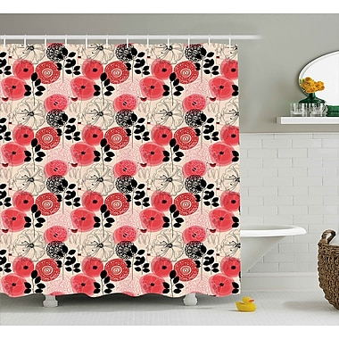 Bloomsbury Market Alejos Circled Abstract Decor Shower Curtain; 69'' W x 84'' L