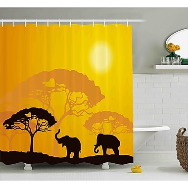Bloomsbury Market Avia Africa Abstract Wildlife Shower Curtain; 69'' W x 75'' L