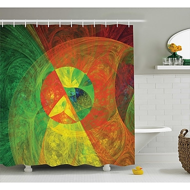 Bloomsbury Market Anamaria Abstract Artsy Surreal Shower Curtain; 69'' W x 84'' L