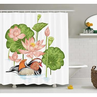 Bloomsbury Market Angelo Mandarin in Pond Lilies Shower Curtain; 69'' W x 75'' L
