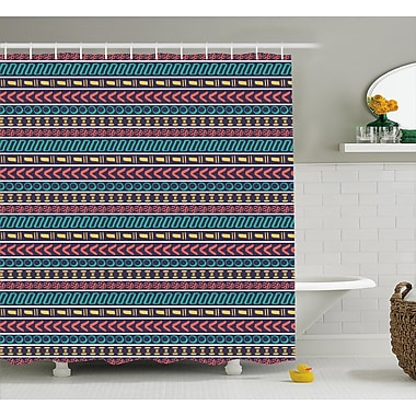 Bloomsbury Market Beachmere Native American Style Shower Curtain; 69'' W x 75'' L