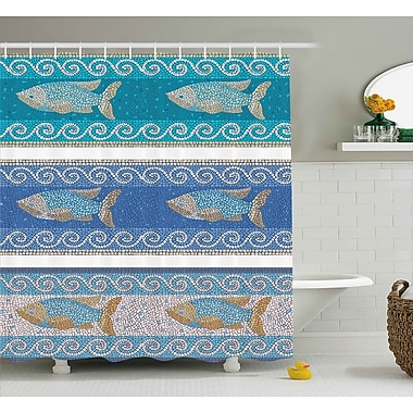 Bloomsbury Market Anton Marine Style Pattern Shower Curtain; 69'' W x 84'' L