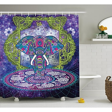 Bloomsbury Market Alep Mandala Out Space Image Shower Curtain; 69'' W x 70'' L