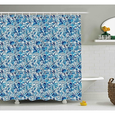 Bloomsbury Market Beachborough Middle Eastern Nature Shower Curtain; 69'' W x 75'' L