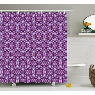 Bloomsbury Market Beamond Abstract Mosaic Style Shower Curtain; 69'' W x 84'' L