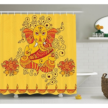 Bloomsbury Market Beldin Indian Art Bohemian Shower Curtain; 69'' W x 75'' L