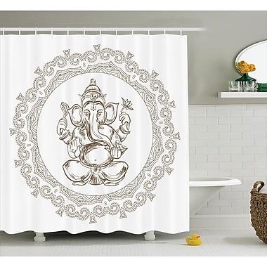 Bloomsbury Market Beldin Mandala Indian Religion Shower Curtain; 69'' W x 75'' L