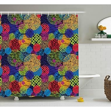 Bloomsbury Market Ardale Geometric Sketchy Decor Shower Curtain; 69'' W x 70'' L