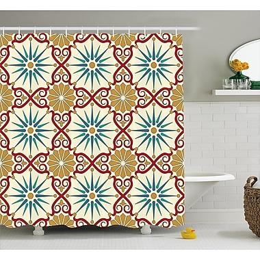 Bloomsbury Market Ari Islamic Geometric Forms Shower Curtain; 69'' W x 75'' L