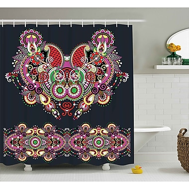 Bloomsbury Market Arsdale Ornate Paisley Features Shower Curtain; 69'' W x 84'' L
