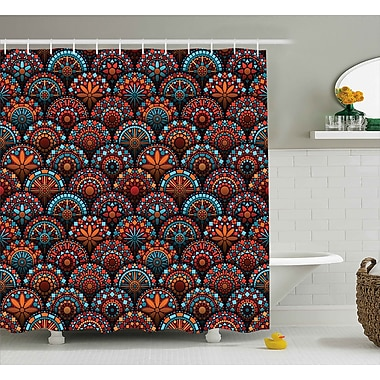 Bloomsbury Market Audington Geometric Floral Forms Shower Curtain; 69'' W x 75'' L