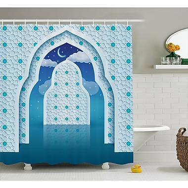 Bloomsbury Market Askham Arabic Signs at Night Shower Curtain; 69'' W x 75'' L
