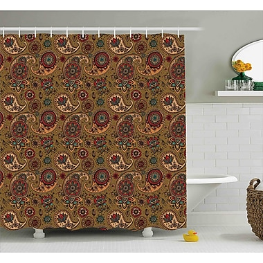 Bloomsbury Market Bautista Vintage Authentic Decor Shower Curtain; 69'' W x 84'' L