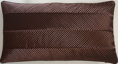 Astoria Grand Amandes Chevron Cord Lumbar Pillow; Chocolate