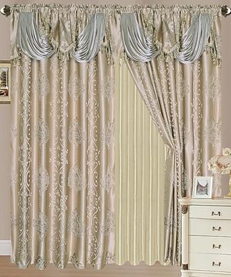 Astoria Grand Anderle Jacquard Double Nature/Floral Semi-Sheer Rod Pocket Curtain Panels (Set of 2)