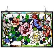 Astoria Grand Beley Roses / Butterflies Design Window Panel