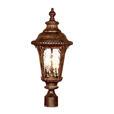 Astoria Grand Appel Outdoor 3-Light Lantern Head; Black Coral