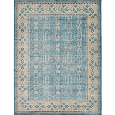 Bloomsbury Market Jaiden Blue/Brown Area Rug; 3'3'' x 5'3''