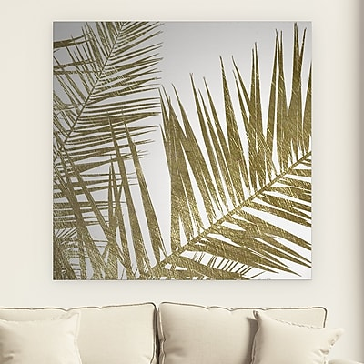 Bayou Breeze 'Golden Frond I' Acrylic Painting Print on Gallery Wrapped Canvas