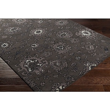 Charlton Home Ivan Hand-Tufted Taupe/Black Area Rug; Runner 2'6'' x 8'