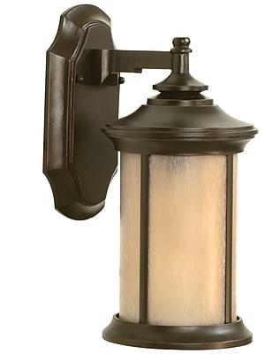 Charlton Home Oakhill 1-Light Outdoor Bronze Wall Lantern