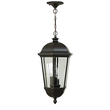 Charlton Home Oakhill 3-Light Aluminum Outdoor Hanging Lantern