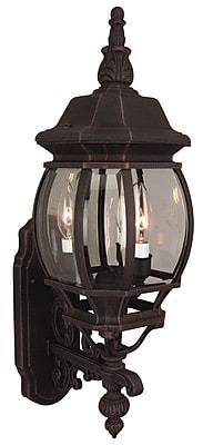 Charlton Home Oakhill Glass 3-Light Outdoor Sconce; Rust