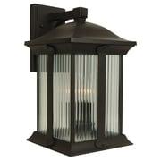 Charlton Home Oakhill Modern 3-Light Outdoor Wall Lantern; Medium