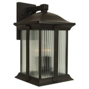 Charlton Home Oakhill Modern 3-Light Outdoor Wall Lantern; Large