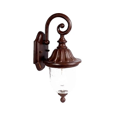 Charlton Home Ledbetter 1-Light Outdoor Wall Lantern; Burled Walnut