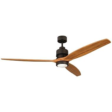 Brayden Studio 60'' Spillman 3 Blade Fan w/ Remote; Espresso with Light Oak Blades