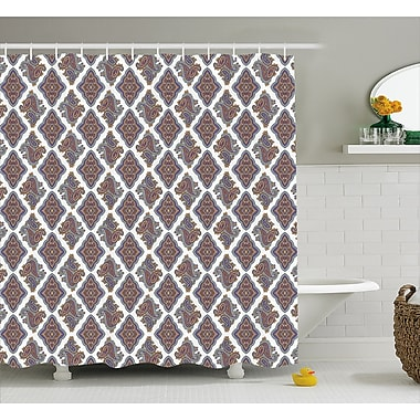 Charlton Home Bean Indian Floral Pattern Shower Curtain; 69'' W x 70'' L