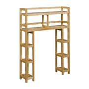 Charlton Home Corte 2-Tier 34.46'' W x 48'' H Wood Over-the-Toilet Shelving Unit; Blonde