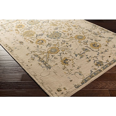 Charlton Home Ivan Hand-Tufted Taupe Area Rug; 4' x 6'