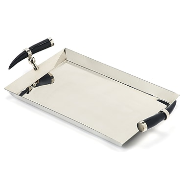Darby Home Co Rectangle Silver Serving Tray