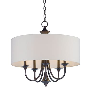 Darby Home Co Becher 5-Light Drum Chandelier; Oil Rubbed Bronze