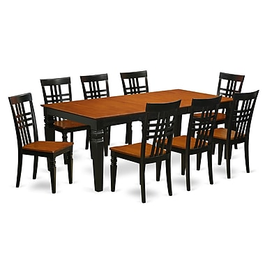 Darby Home Co Beesley 9 Piece Wood Dining Set; Black